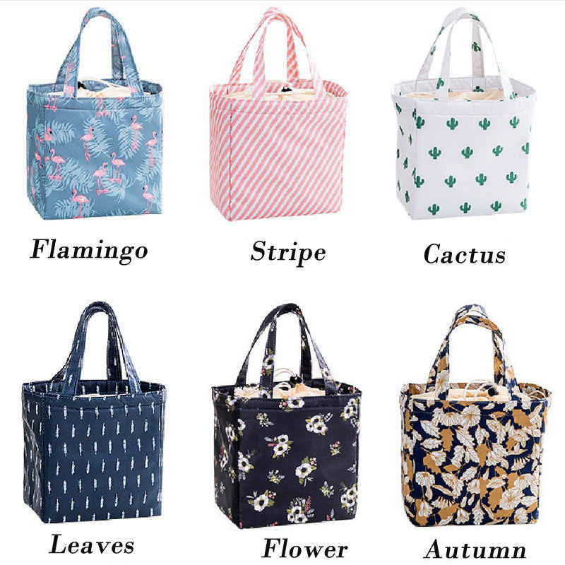 ... 2019 Brand New Women Ladies Girls Kids Portable Insulated Lunch Bag Box  Picnic Tote Cooler Lunch ... 03ea19609c2b9