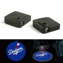 2X двери автомобиля приветственные огни 12 V для Лос-Анджелес Доджерс аксессуары лампа-проектор логотипа