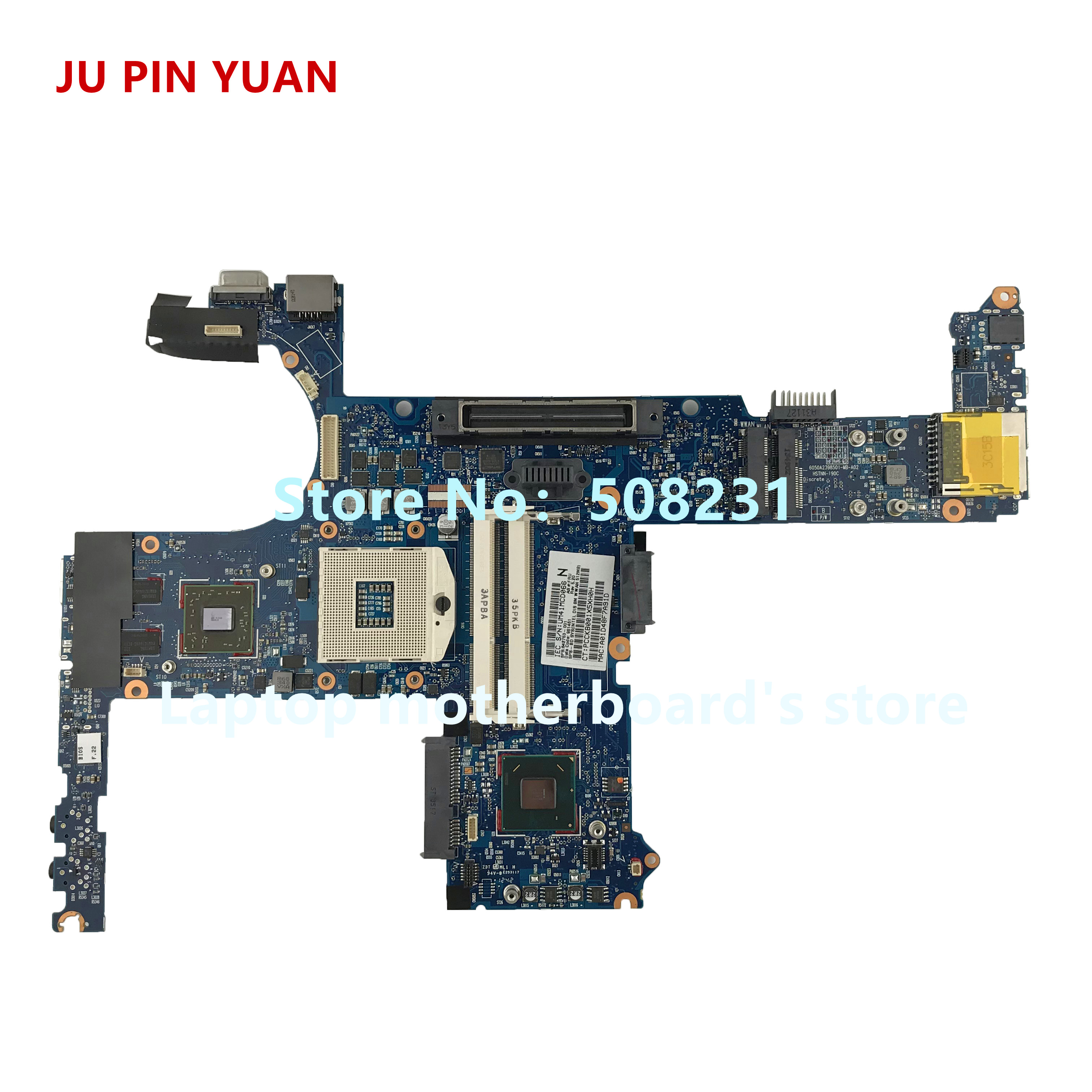 JU PIN YUAN For <font><b>HP</b></font> ProBook 6460b <font><b>8460P</b></font> Notebook PC laptop <font><b>motherboard</b></font> 642753-001 6050A2398501-MB-A02 mainboard fully Tested image