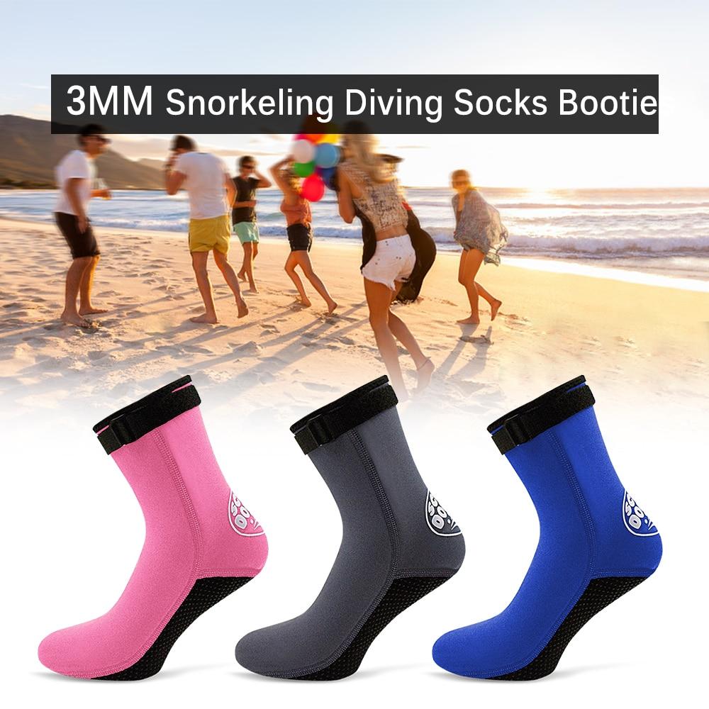 Hot Water Sport Socks 3MM Neoprene Diving Socks Boots Water Shoes Beach Booties Snorkeling Diving Surfing Boots for Men Women