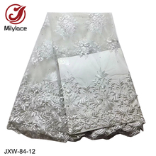 White African lace fabric tulle laces fabrics 2019 embroidery french for garment material 5 yards JAX-84