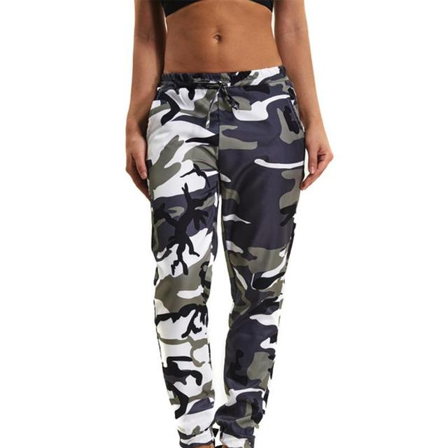 95ebbd56e3406 US $10.86 32% OFF|Summer Women's Ladies Camo Cargo Trousers Pants Casual  Pants Military Army Combat Camouflage Jeans Pencil Pants Pink Red Gray-in  ...