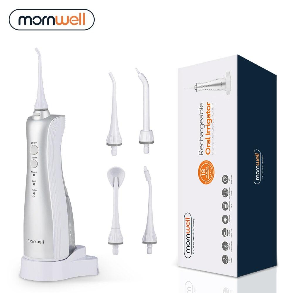 Mornwell ирригатор для полости рта чистка зубов ирригатор для зубов портативный ирригатор для зубов перезаряжаемый Водяной флосс