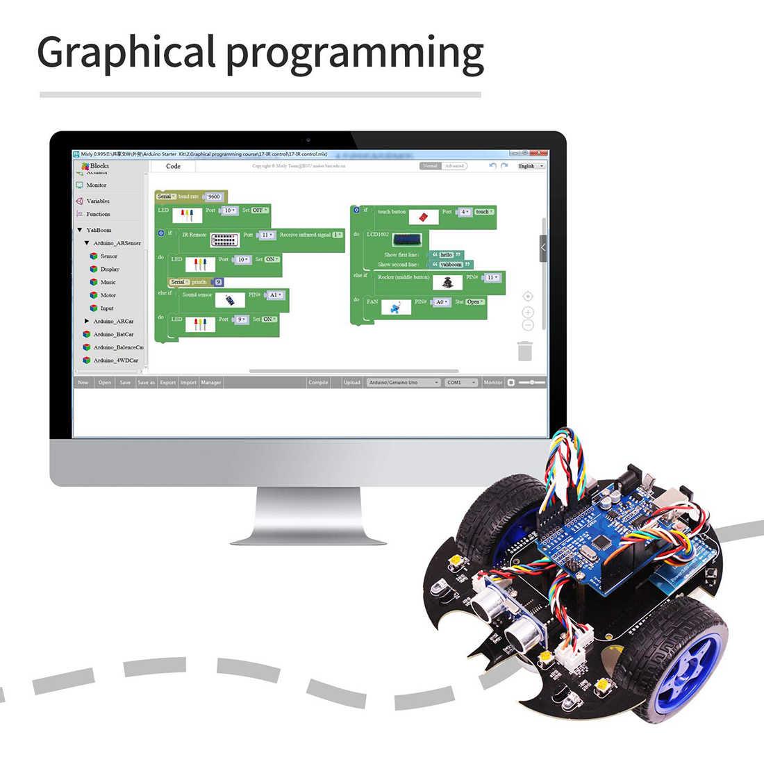 Летучая мышь умный робот автомобиль проект полный стартовый учебник высокотехнологичная программируемая игрушка для Arduino (в том числе: для материнской платы R3)