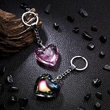 RINHOO сердце брелок для ключей с кожаными кисточками золотой ключ держатель металлический кристалл брелок Шарм сумка авто подвеска подарок цена