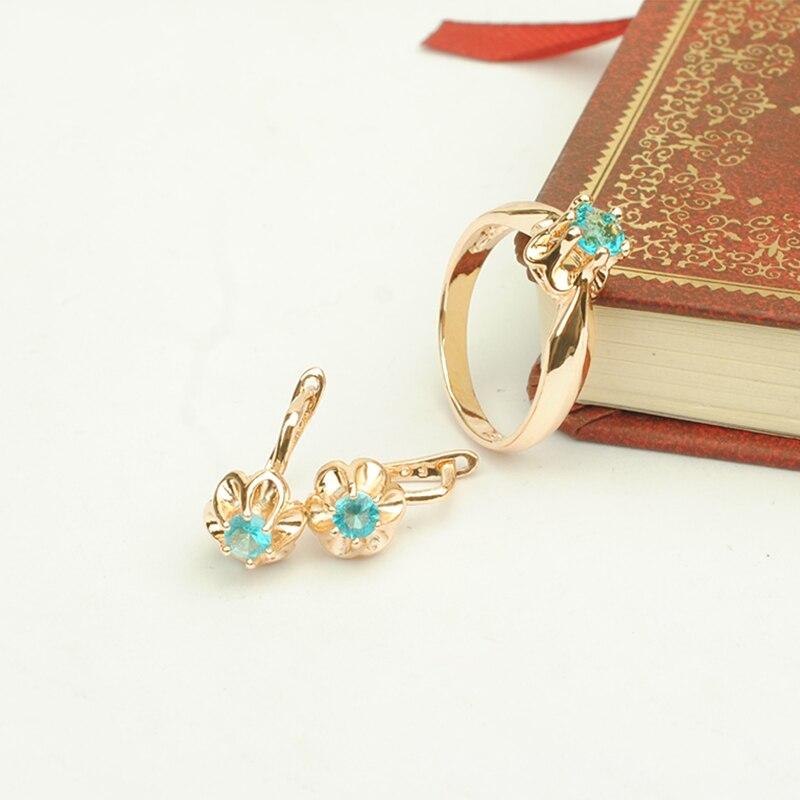 Jewelry Sets Round Rose...