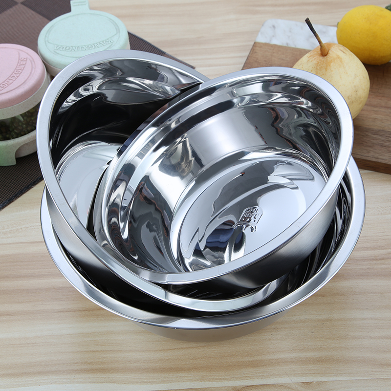 Stainless Steel Bowls Plates Anti-scalding Anti-fall Deepen  Fashion Eco-Friendly Househould Reflection Utensils