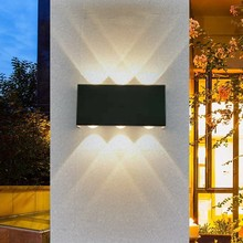 NEW waterproof 12W led wall light White aluminum Outdoor & Indoor lighting Modern Bathroom lamp