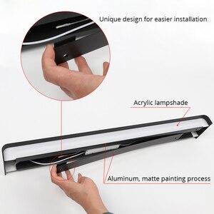 Image 4 - 61 cm/76 cm led 벽 램프 현대 침실 벽 빛 거실 계단 조명 장식 알루미늄 디 밍이 가능한 원격 제어