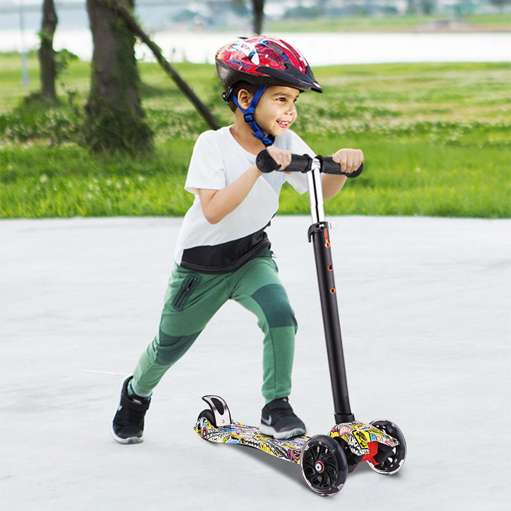 ANCHEER Height Adjustable Children Scooter with Flashing Light and 3 Wheels 3