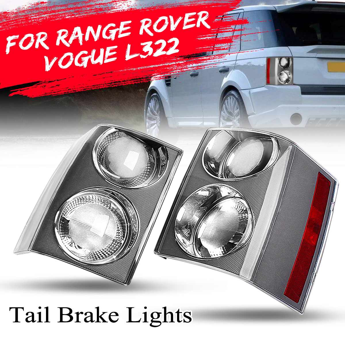 FOR RANGE ROVER VOGUE L322 2002 2003 2004 2005 2006 2007 2008 2009 1 Pair Tail Rear Light Lamp Brake Stop Light Clear LensFOR RANGE ROVER VOGUE L322 2002 2003 2004 2005 2006 2007 2008 2009 1 Pair Tail Rear Light Lamp Brake Stop Light Clear Lens
