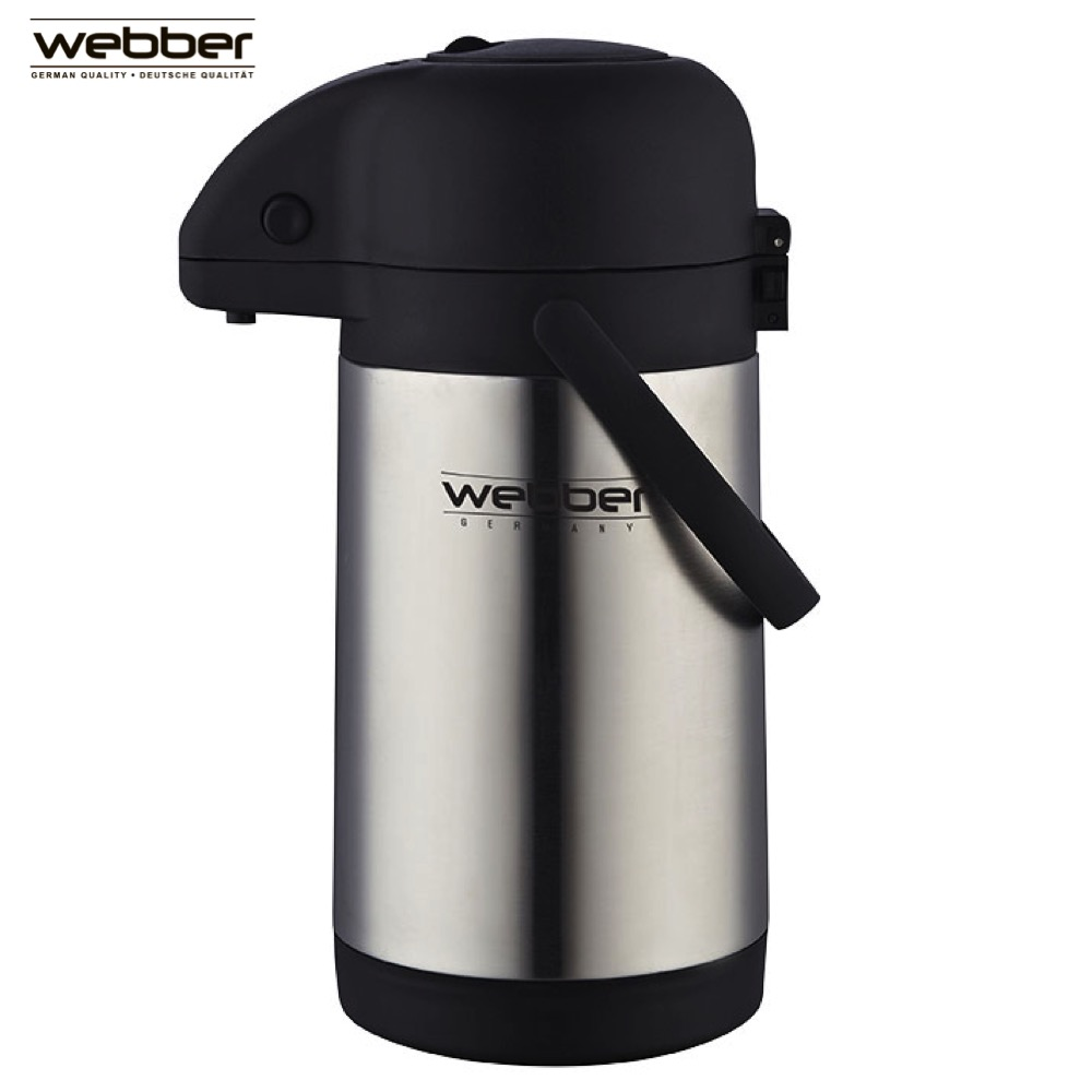 Vacuum Flasks & Thermoses Webber 0R-00005240 thermomug thermos for tea Cup stainless steel water hand movement 7 0mpa vacuum water pump for water pressure test pipe leak hunting