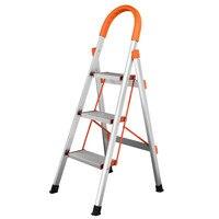 Portable Aluminum Steps Ladder Anti Slip 3 Tread Safety Step Ladder Folding Domestic Ladders Home Furniture Kitchen Ladder Chair