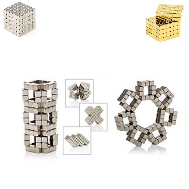 216 piezas poderoso 6*6*6*6*6 cubo mágico rompecabezas juguetes educativos Mini imán rompecabezas cuentas de Metal DIY montar Magcube juguete