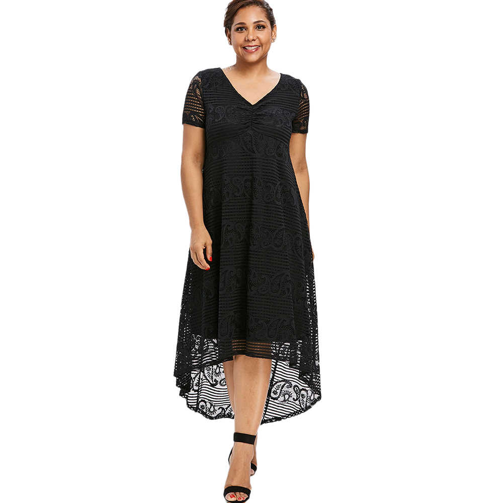 Detail Feedback Questions about Summer Midi Dress Women Plus Size ...