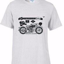 100% algodón camiseta hombres 2019 verano barato venta prealgodón camisetas para hombres Vintage motos Fans gran venta camiseta