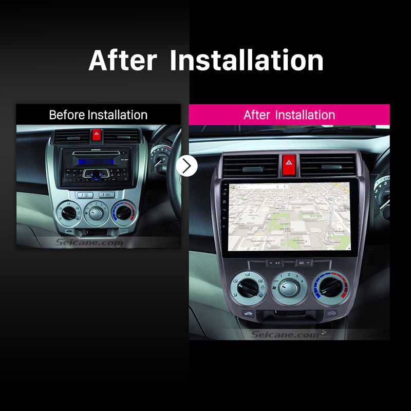 "Seicane الروبوت 8.1 10.1 ""راديو السيارة ل هوندا سيتي 2011 2012 2013 2014-2016 2Din GPS Tochscreen مشغل وسائط متعددة رئيس وحدة"