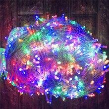 חיצוני חג המולד תאורת 100M 50M LED מחרוזת אורות רחוב גרלנד קישוט לבית בית גן רחוב חג המולד חתונה המפלגה