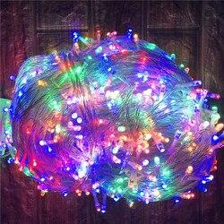 Iluminação de natal ao ar livre 100 m 50 m led string luzes rua guirlanda decoração para casa jardim rua natal festa casamento