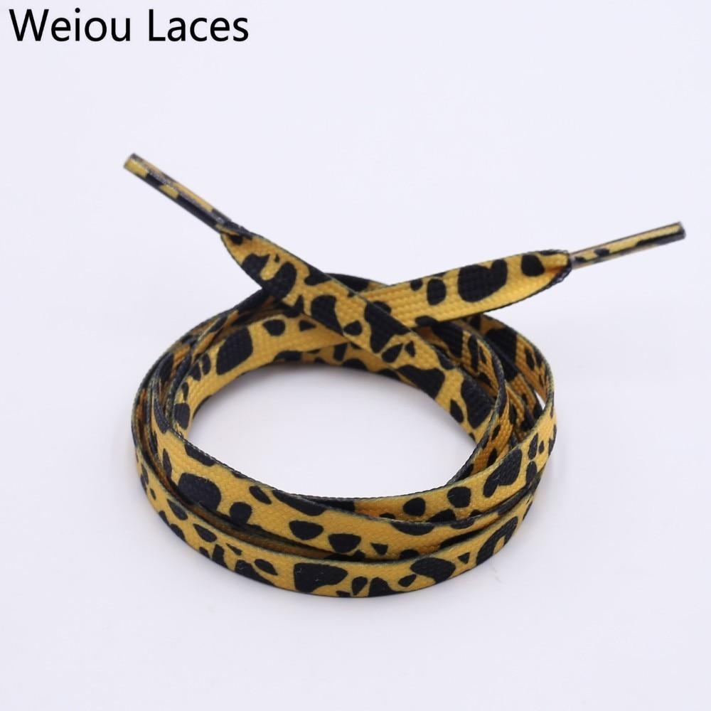Aufrichtig Weiou 7mm Polyester Doppel Hohl Flache Gedruckt Klassische Leopard Schnürsenkel Sublimiert Schnürsenkel Digital Print Schnürsenkel