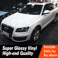 High Quality crystal Gloss White car wrap vinyl Sticker White Gloss Film Wrap Foil Expected durability: 4 5 years.