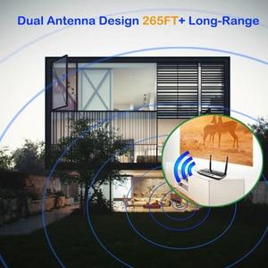 Image 5 - 262ft/80 متر NFC طويلة المدى بلوتوث 5.0 ستيريو الصوت الموسيقى جهاز ريسيفر استقبال وإرسال 3 في 1 محول الصوت اللاسلكي الكمون المنخفض aptX HD