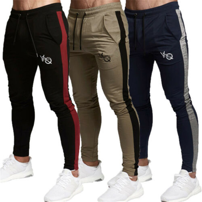 New Mens Track Jogger Sport Pants Slim Fit Sweatpants Running Bottoms Active Tie-strap Large Yard Springy Running Sports Pants