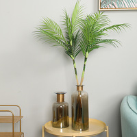 Tropical Simulation Plant Palm Leaves Areca Palm Leaf Pot Simulation False Leaf Landscape Coconut Leaf Desktop Flower Arrangemen