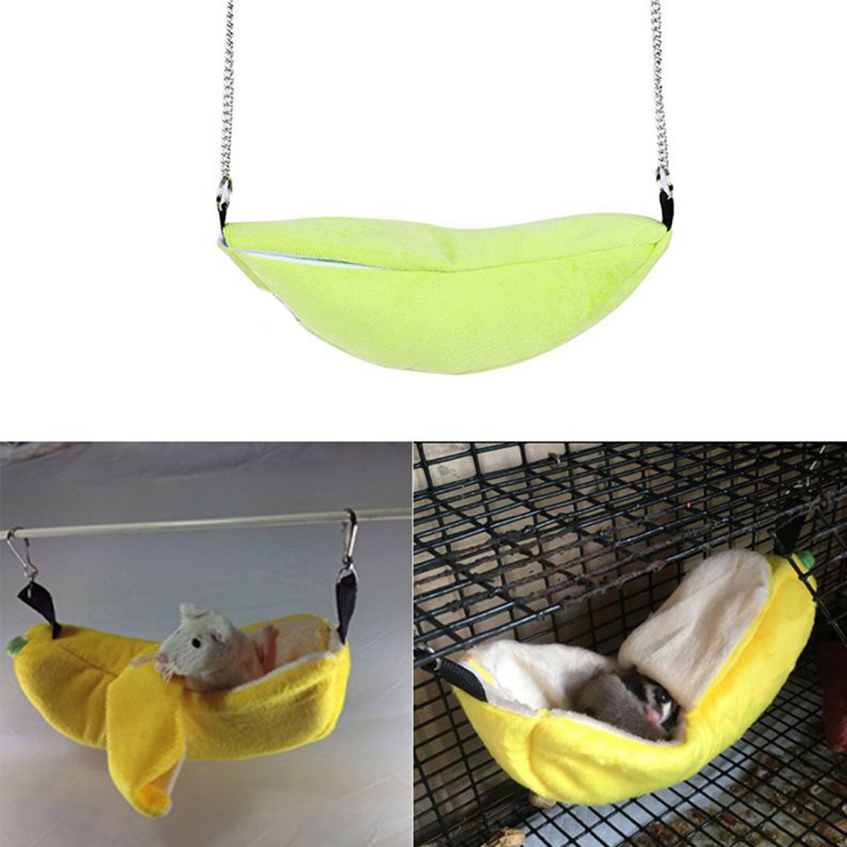 Banana Hamster Bed House Hammock Small Animal Bed House Cage Nest Hamster Accessories For Hamster Small Bird Pet