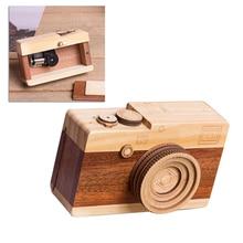 Новые милые скандинавские Висячие деревянные камеры игрушки музыкальная шкатулка декор комнаты предметы интерьера детские подарки на день рождения деревянные игрушки для детей