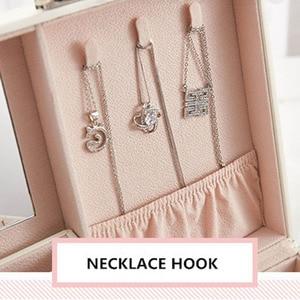 Image 5 - Design de moda caixa de jóias de couro caso de jóias pacote de armazenamento grande espaço jóias anel colar pulseira venda quente