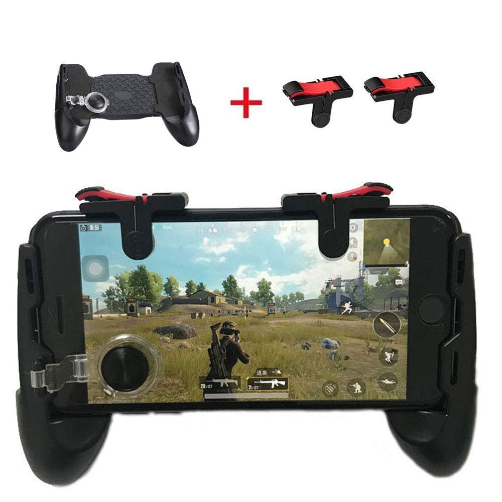 Mobile Game Controller Sensitive Shoot Aim Keys L1R1 Gaming Triggers For PUBG/Knives Out/Rules Survival,Supports 4.7-6.4 Inche