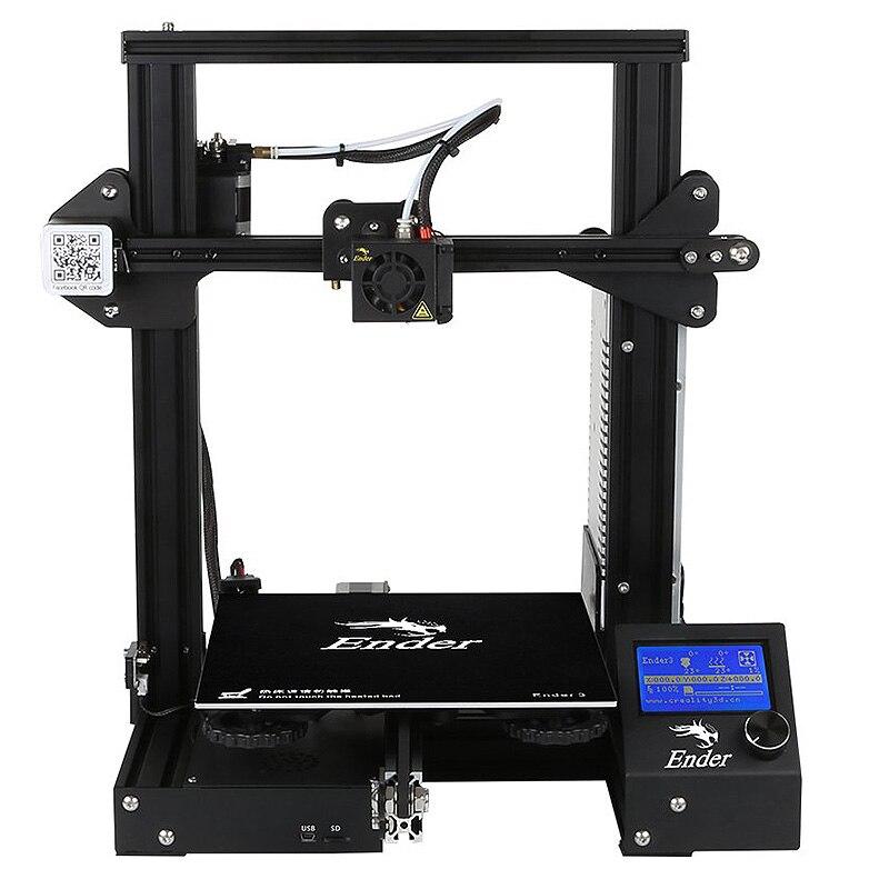 Kit de impresora Creality Ender 3 de escritorio 3D impresora Prusa I3 DIY 220x220x250mm MK8 extrusora 1,75mm 0,4mm boquilla de impresión - 4