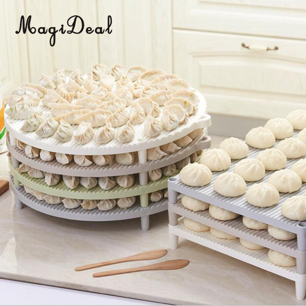 Stackable Dumpling Tray - Cake Storage Rack - Nonstick Pastry Container - Home Kitchen Restaurant Hotel
