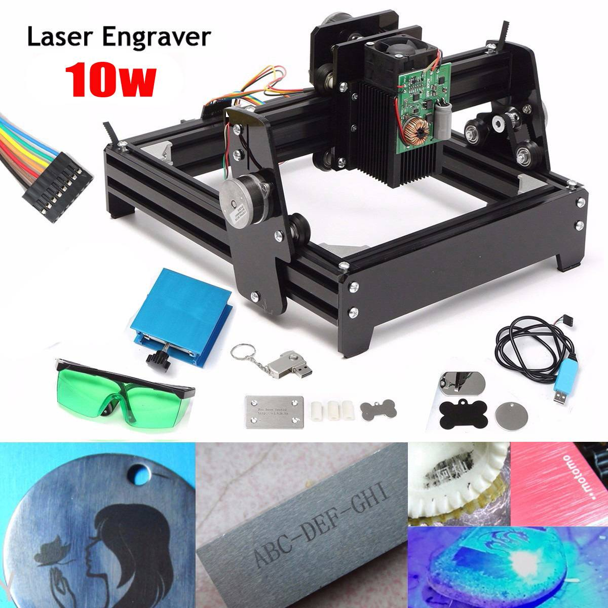 10W Laser Engraving Machine DIY USB Metal Engraver Stone Image Router Printer laser marking machine wood router USB
