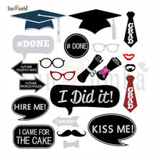 24pcs Graduation Party Decoration Photo Booth Photobooth Props Stick Decor for a Shoot Funny Sunglasses