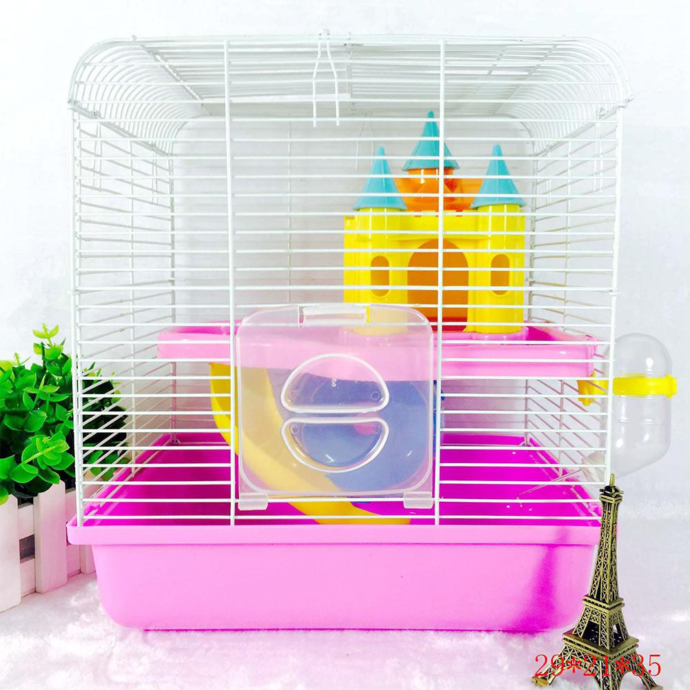 Frank Double Layer Funny Hamster House Cage Nest Pet Hedgehog Castle Climb Toys Small Pet Mice Hamsters House Let Our Commodities Go To The World Home