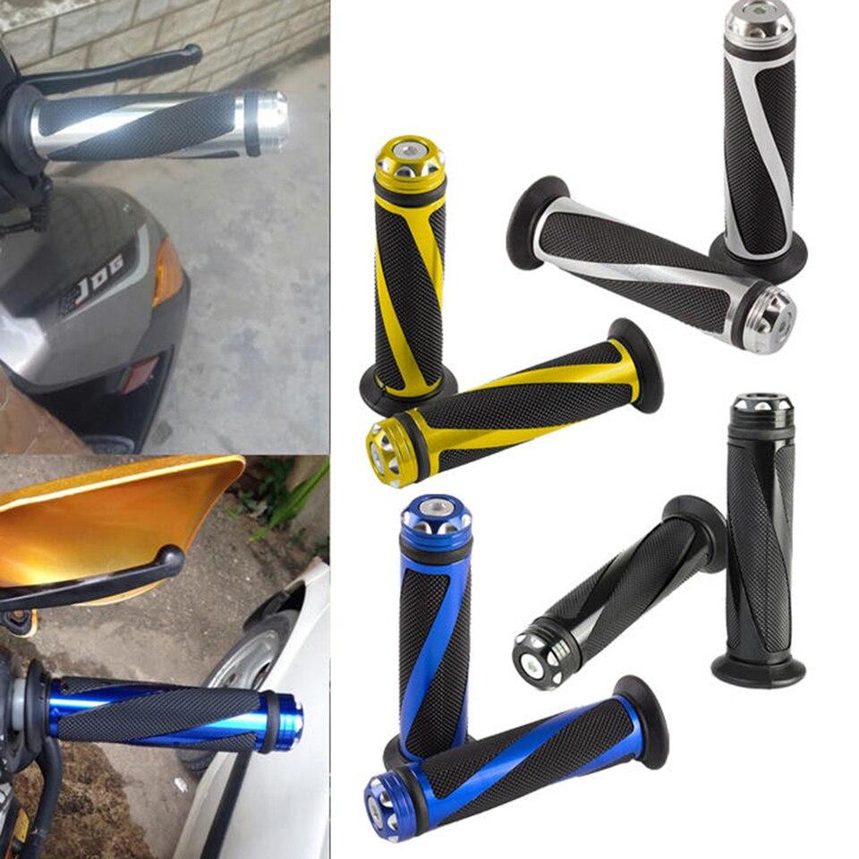 """Motorcycle 7//8/"""" Hand Grips Handle Bar For Suzuki GSXR600 1000 Honda CBR600RR New"""