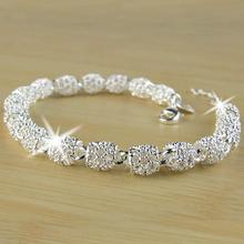 DreamBell Women Bracelet Silver Color Concise Simple Lucky B