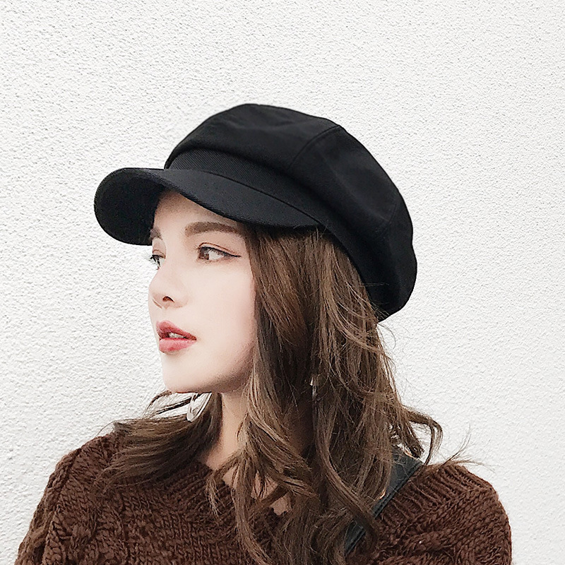 2018 Korean Style Female Beret Fashion Brand Wool Octagonal   Cap  , Autumn Casual Sun Hat Peaked   Cap   Winter Warm   Baseball     Caps
