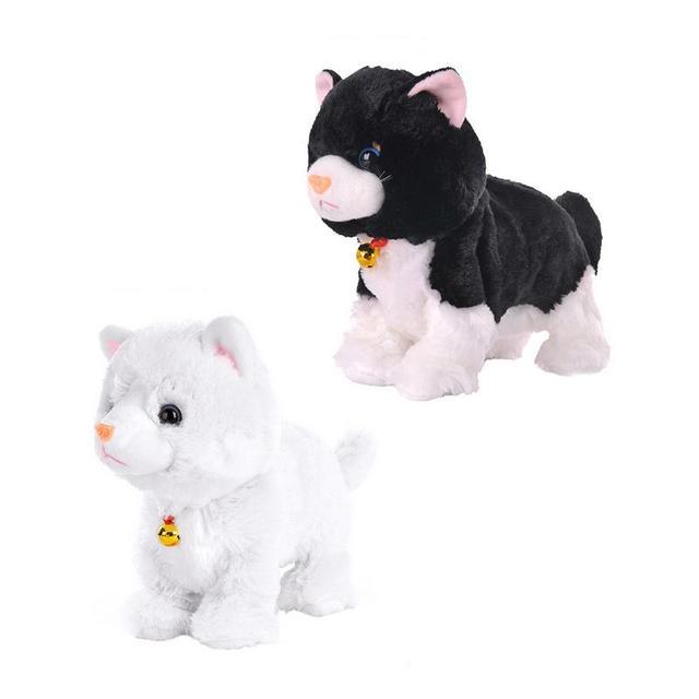 0da4e01f7 Electric Cat Plush Toy Non remote Control Intelligent Electronic Pet ...