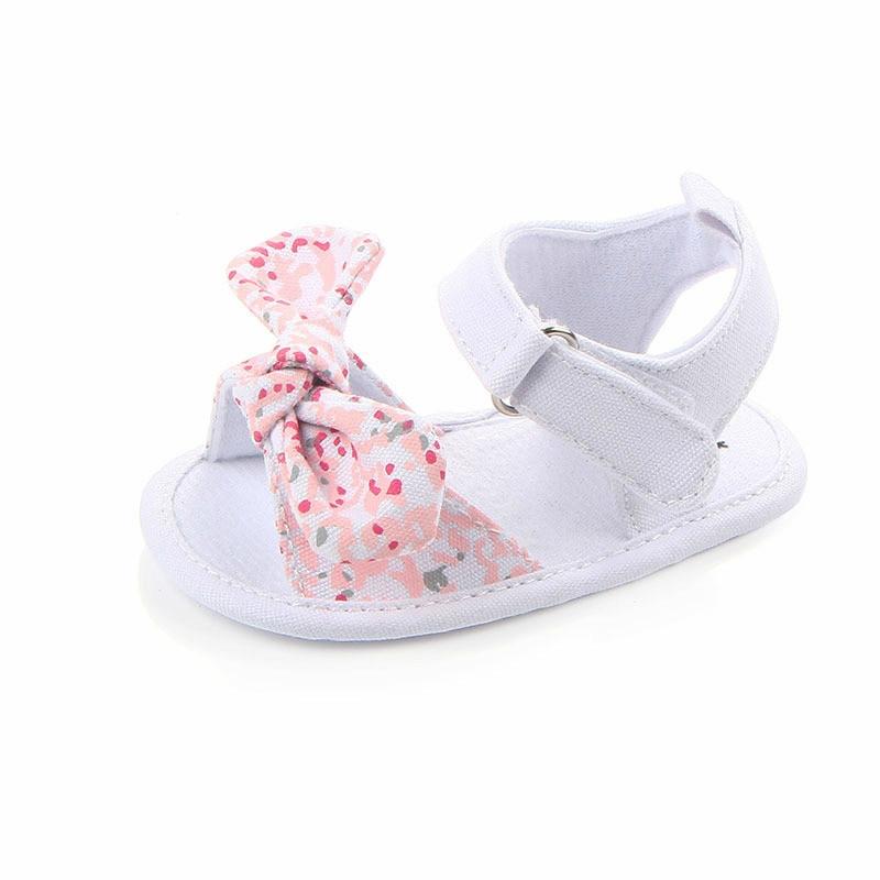 MAYA STEPAN 1 Pair Children Baby Kids Boys Girls Shoes Non-Slip Canvas Bowknot Toddlers Newborn Infantil Sandals 5