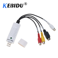 Kebidumei-tarjeta de captura de vídeo VHS, adaptador USB 2,0 Easycap portátil, adaptador de captura de vídeo DVD para Win7/8/XP/Vista