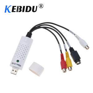Kebidumei Portable USB 2.0 Easycap Audio Video Capture Card Adapter For Win7/8
