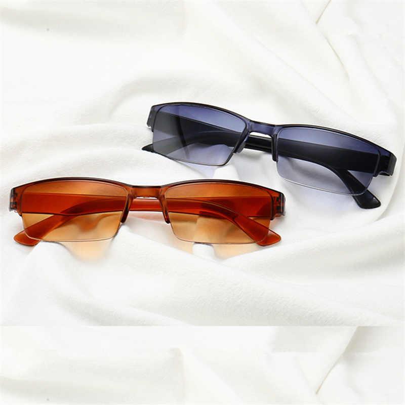 XojoX Брендовые очки для чтения мужские и женские мужские прогрессивные очки полуоправа диоптрий + 1,0 1,5 2,0 2,5 3,0 3,5 дальнозоркие очки