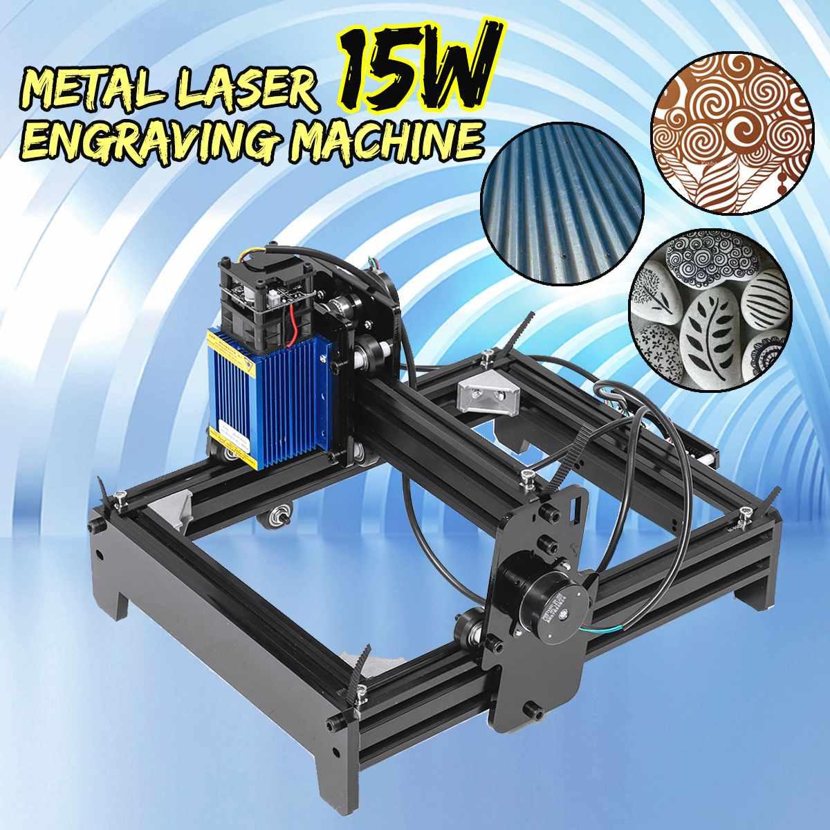 10 W/12 W/15 W 15000 mW Alta Precisão Máquina de Gravação A Laser de Metal Marcação Gravura de Madeira Casa logotipo DIY Impressora de Cortador de Madeira Router