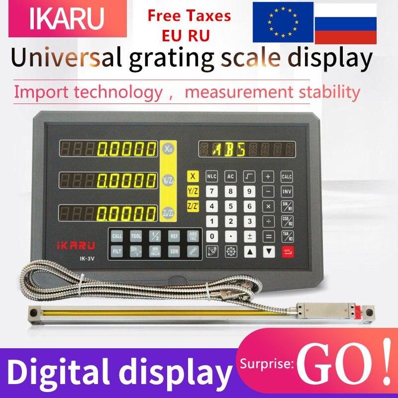 IRKARU УЦИ Полный комплект 3 оси цифровой дисплей с функцией озвучивания IK 3V с FTN5 3 шт 5u линейная шкала/кодер/датчик 2 до 40