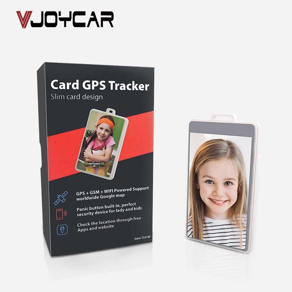 VJOYCAR ID Card Mini GPS Tracker For Children Student Elderly 10 Days Long Standby Time Real-Time Tracking Map APP Web Platform