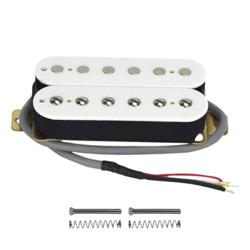 Electric Guitar Humbucker Pickups Neck Alnico V Pickup White tooyful alnico 5 humbucker pickup bridge neck set p90 for electric guitar accessory