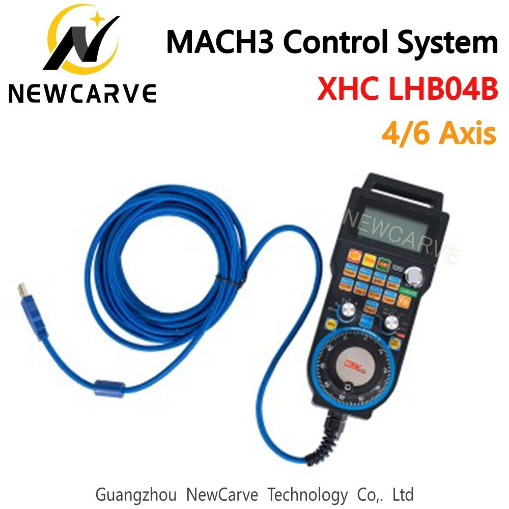 XHC Newest Mach3 Wired MPG Pendant Handwheel CNC Controller For 4/6 Axis Engraving Machine NEWCARVEXHC Newest Mach3 Wired MPG Pendant Handwheel CNC Controller For 4/6 Axis Engraving Machine NEWCARVE